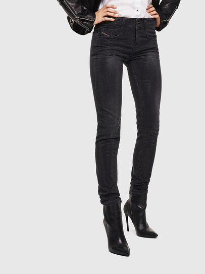 Diesel - D-Ollies JoggJeans 0093H, Nero/Grigio scuro - Jeans - Image 1
