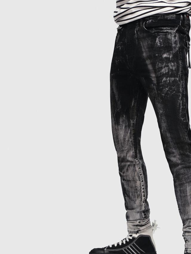 Diesel - D-Amny 089AF, Nero/Grigio scuro - Jeans - Image 5