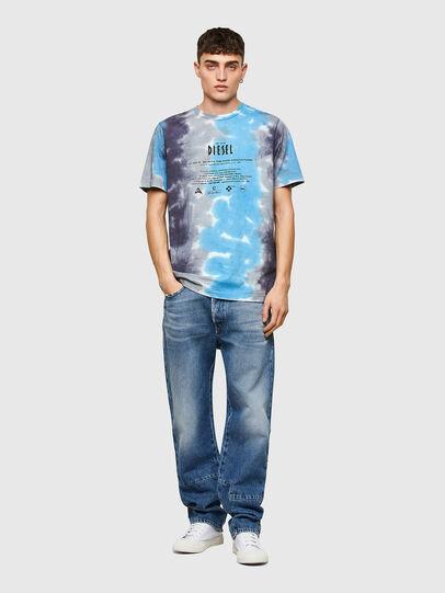 Diesel - T-JUST-E13, Grigio/Blu - T-Shirts - Image 4