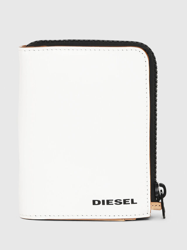 Diesel - L-12 ZIP, Bianco - Portafogli Piccoli - Image 1