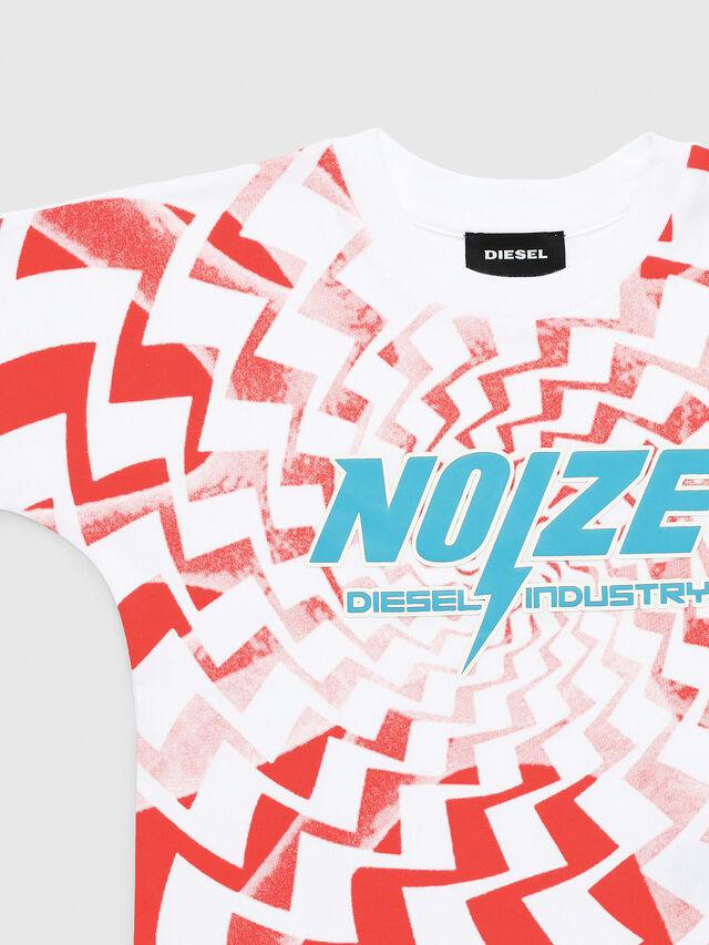 Diesel - TRUCCIB-R, Bianco/Rosso - T-shirts e Tops - Image 1