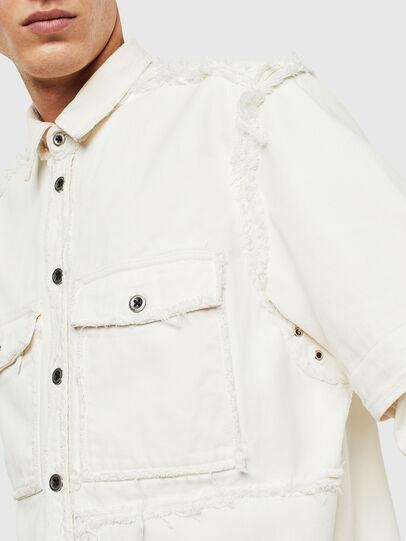 Diesel - D-KURTIS, Bianco - Camicie in Denim - Image 6