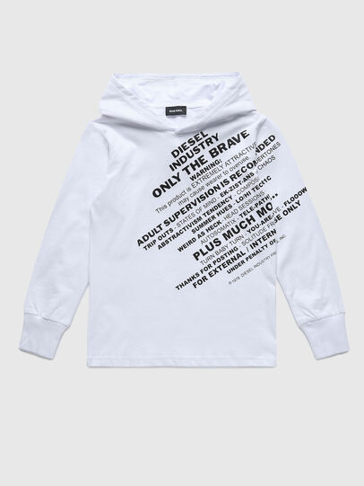 Diesel - TDIEGOHOODS3 ML, Bianco - T-shirts e Tops - Image 1