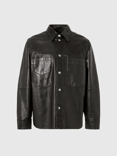 Camicia oversize in pelle