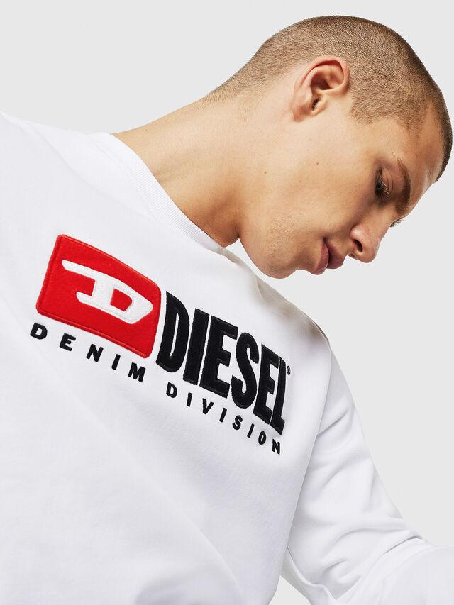 Diesel - S-GIR-DIVISION, Bianco - Felpe - Image 4