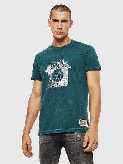 Diesel - T-DIEGO-CUT-AC, Blu Oltremare - T-Shirts - Image 1