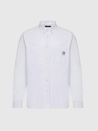 Diesel - S-JAMES, Bianco - Camicie - Image 1