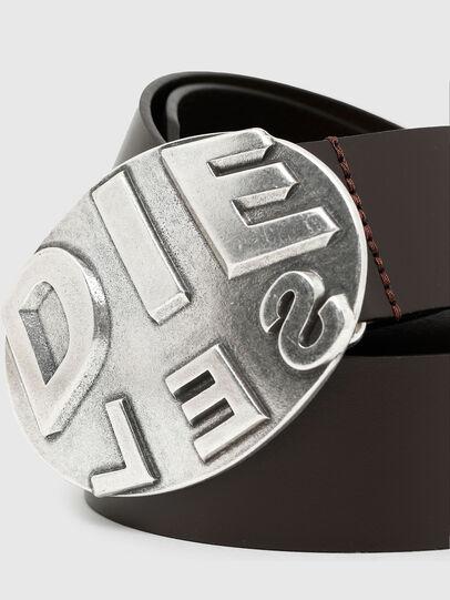 Diesel - B-METALROUND, Marrone - Cinture - Image 2
