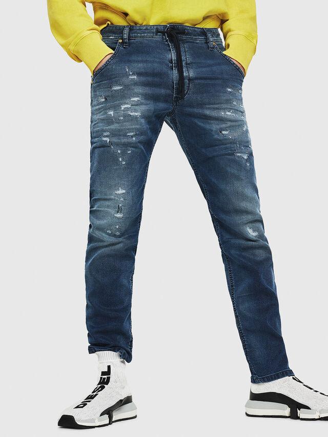 Diesel - Krooley JoggJeans 069HA, Blu medio - Jeans - Image 1