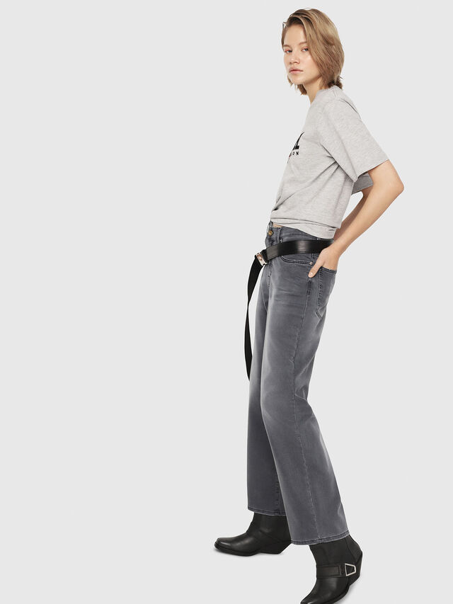 Diesel - Widee JoggJeans 069EH, Nero/Grigio scuro - Jeans - Image 4