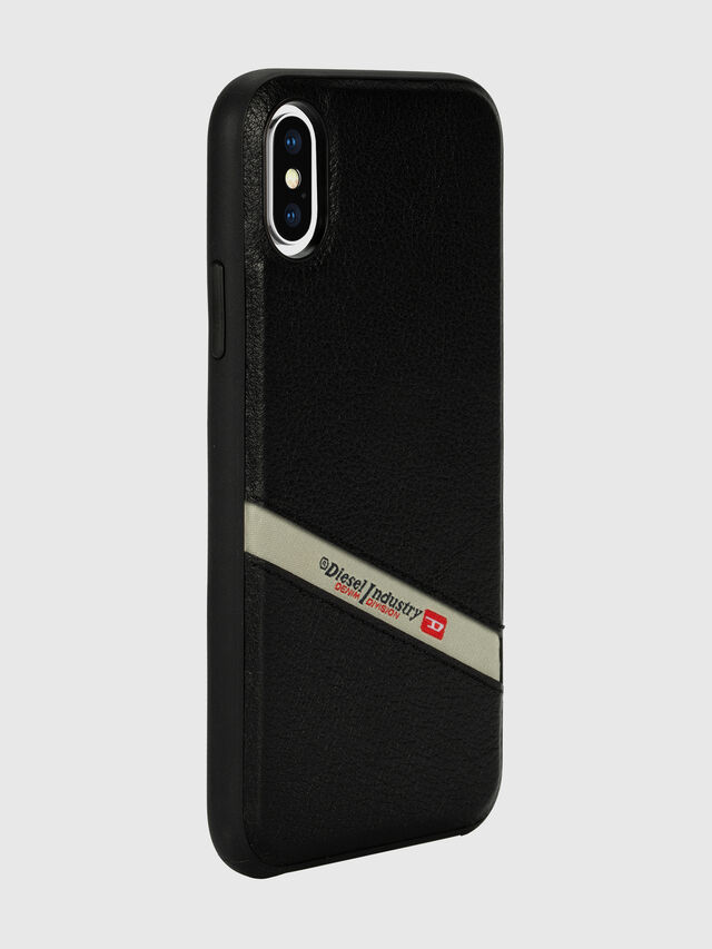 Diesel - DIESEL LEATHER CO-MOLD CASE FOR IPHONE XS & IPHONE X, Nero - Cover - Image 6