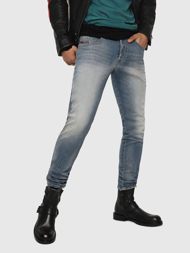 Diesel - D-Bazer 081AP, Blu Chiaro - Jeans - Image 1