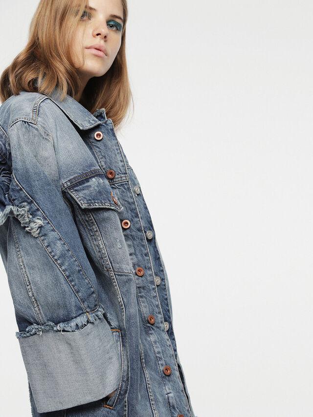 Diesel - DE-VISEMAC, Blu Jeans - Giacche in denim - Image 4