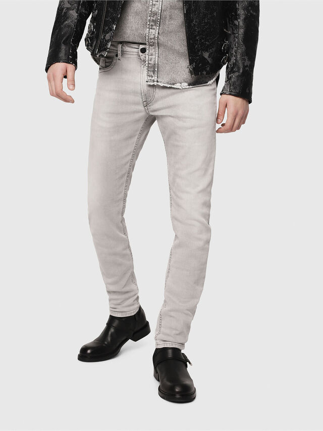 Diesel Thommer 0684I, Grigio Chiaro - Jeans - Image 1