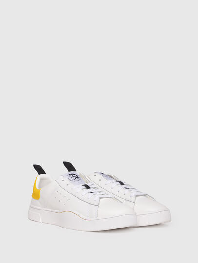 Diesel - S-CLEVER LOW, Bianco/Giallo - Sneakers - Image 2