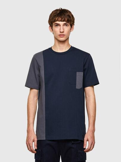Diesel - T-RISEN-B1, Blu Scuro - T-Shirts - Image 1