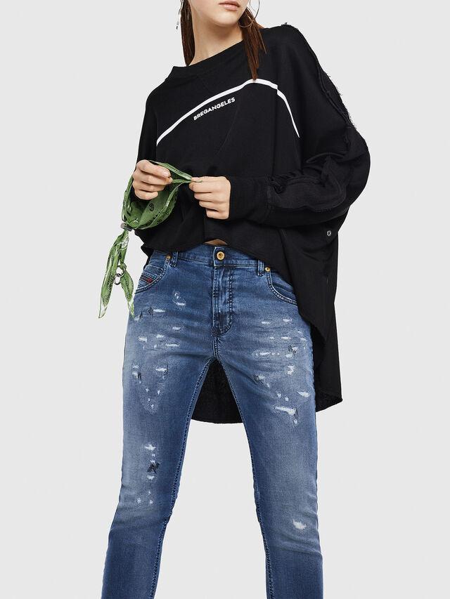 Diesel - Krailey JoggJeans 069HA, Blu medio - Jeans - Image 4