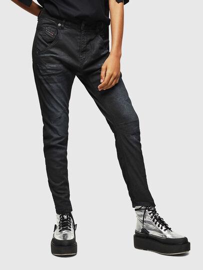 Diesel - Fayza JoggJeans 069GP, Nero/Grigio scuro - Jeans - Image 1