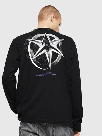 Diesel - T-JUST-LS-VINT, Nero/Bianco - T-Shirts - Image 2