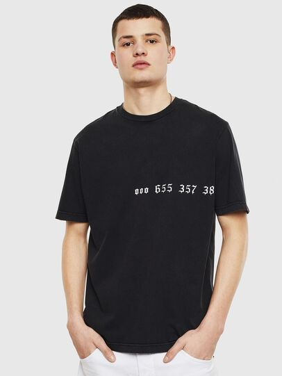 Diesel - T-JUST-T12, Nero - T-Shirts - Image 1