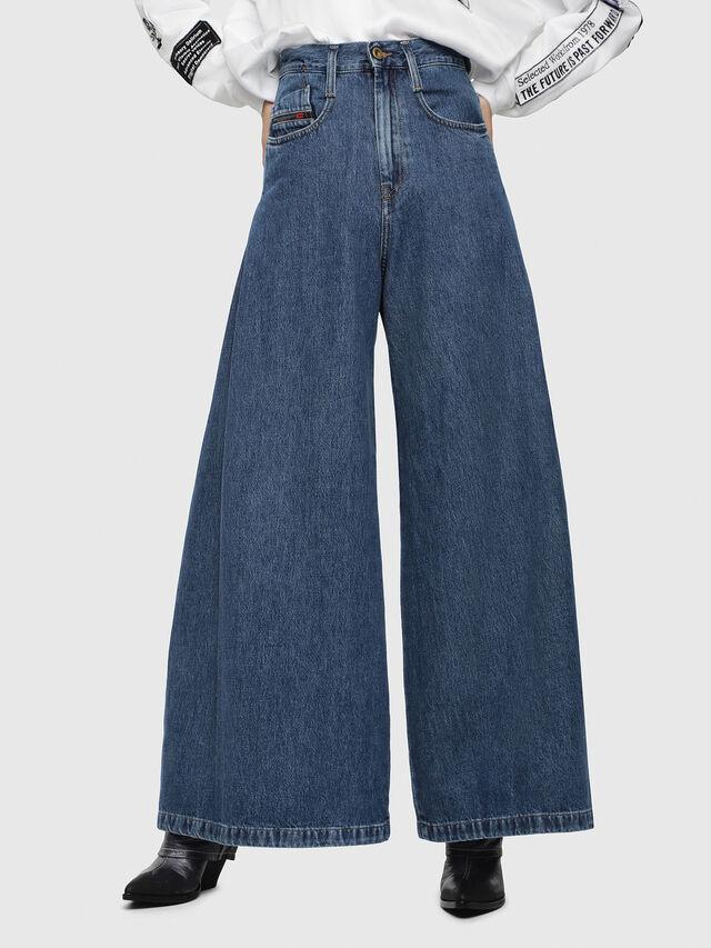 Diesel - D-Izzier 080AQ, Blu medio - Jeans - Image 1