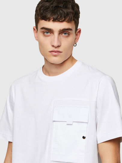 Diesel - T-WORKAN, Bianco - T-Shirts - Image 3