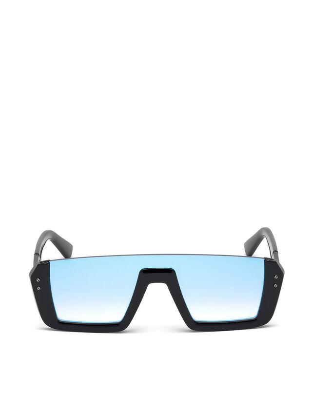 Diesel - DL0248, Nero Brillante - Occhiali da sole - Image 1