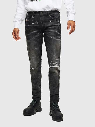 Diesel - Thommer JoggJeans 0098E, Nero/Grigio scuro - Jeans - Image 1