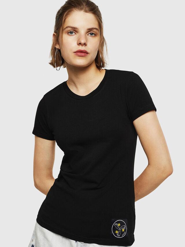 Diesel - T-SUPERY-G, Nero - T-Shirts - Image 2