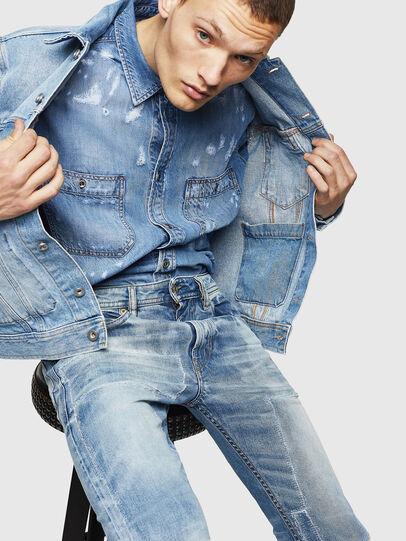 Diesel - Thommer 0092F, Blu Chiaro - Jeans - Image 4