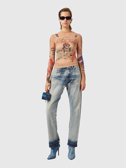 Diesel - T-SIELY, Cipria - T-Shirts - Image 4