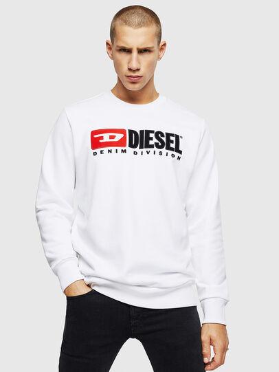Diesel - S-GIR-DIVISION, Bianco - Felpe - Image 1