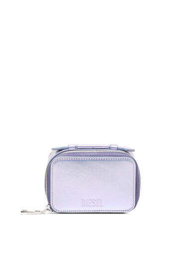Portafoglio/mini borsa in pelle iridescente