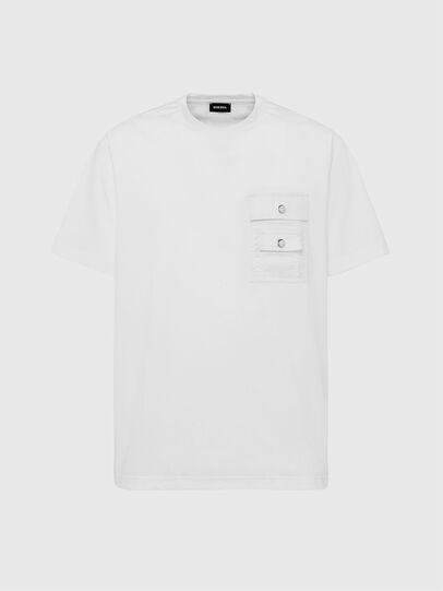 Diesel - T-TASK-SLITS, Bianco - T-Shirts - Image 1