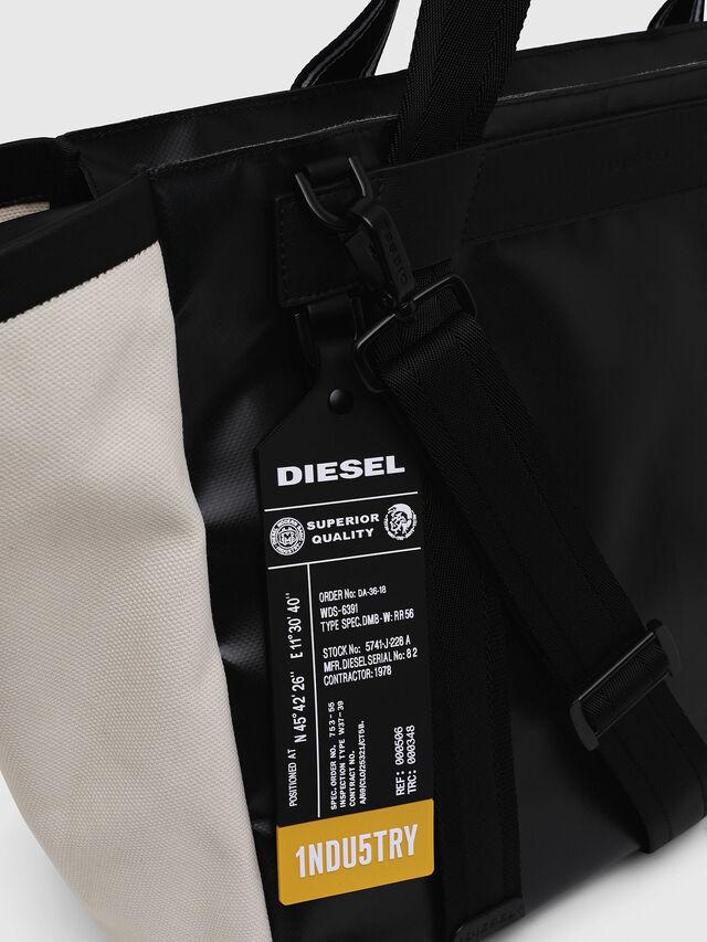 Diesel - F-CAORLY SHOPPER L, Nero/Bianco - Shopper e Borse a Spalla - Image 3