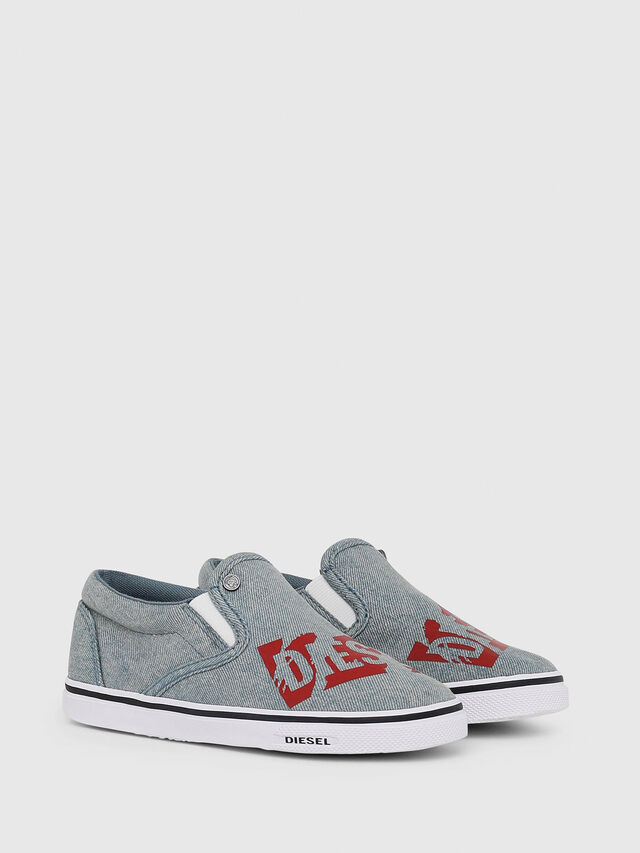 Diesel - SLIP ON 21 DENIM YO, Blu Jeans - Scarpe - Image 2