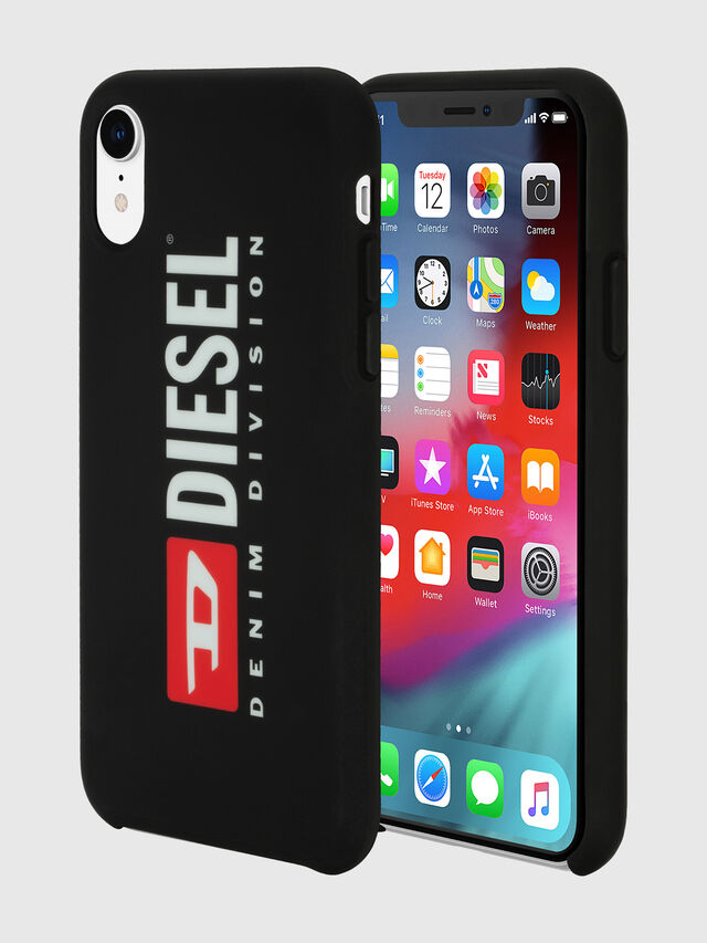 Diesel - DIESEL PRINTED CO-MOLD CASE FOR IPHONE XR, Nero/Bianco - Cover - Image 1