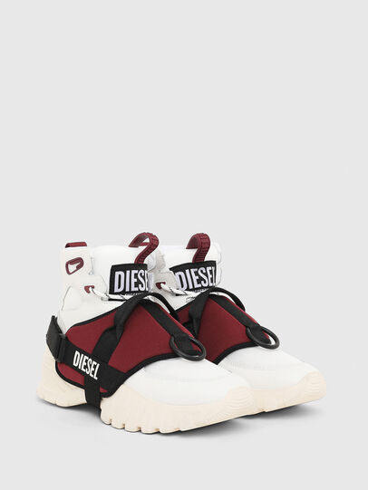 Diesel - S-SHARQUEZ MID, Bianco/Rosso - Sneakers - Image 2
