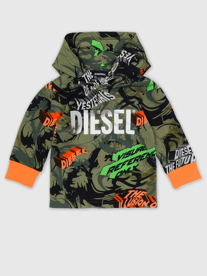 Diesel - TIRONDAB, Verde Militare - T-shirts e Tops - Image 1