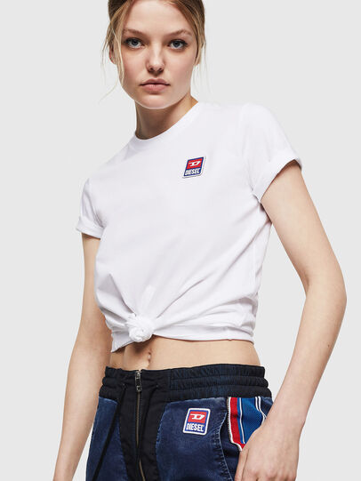 Diesel - T-SILY-ZE, Bianco - T-Shirts - Image 4