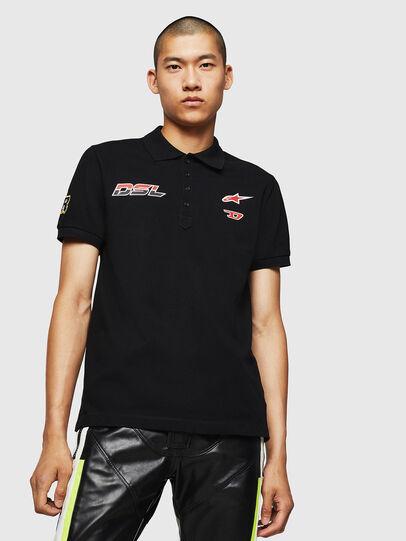 Diesel - ASTARS-T-NIGHT-NEW, Nero - T-Shirts - Image 1