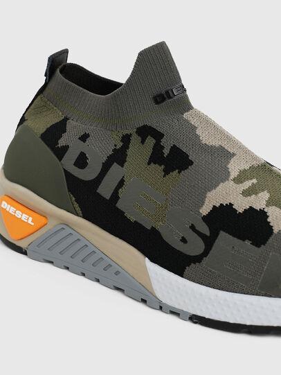 Diesel - S-KB ATHL SOCK II, Verde Camo - Sneakers - Image 4