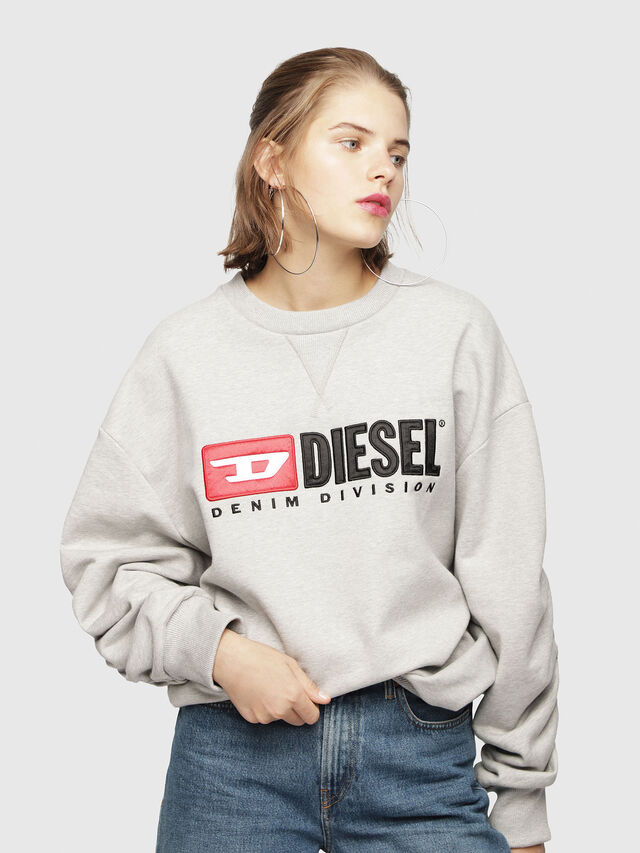 Diesel - F-ARAP, Grigio Chiaro - Felpe - Image 1