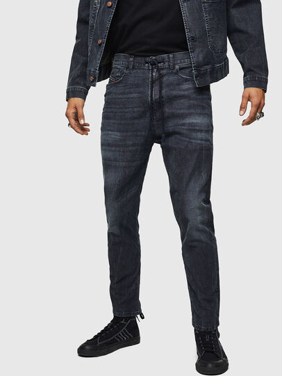 Diesel - D-Vider JoggJeans 0090H, Blu Scuro - Jeans - Image 1