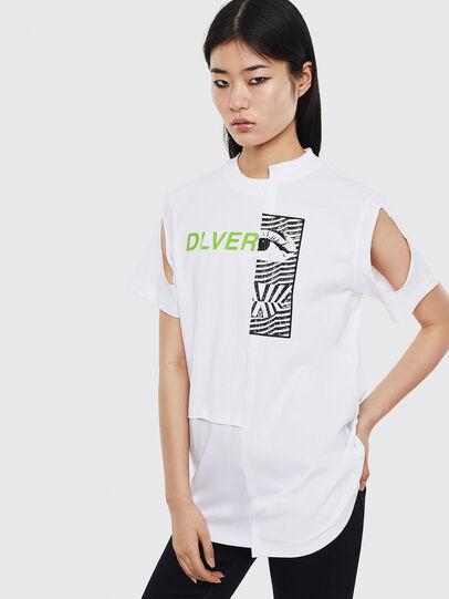 Diesel - T-GOMEZ, Bianco - T-Shirts - Image 1