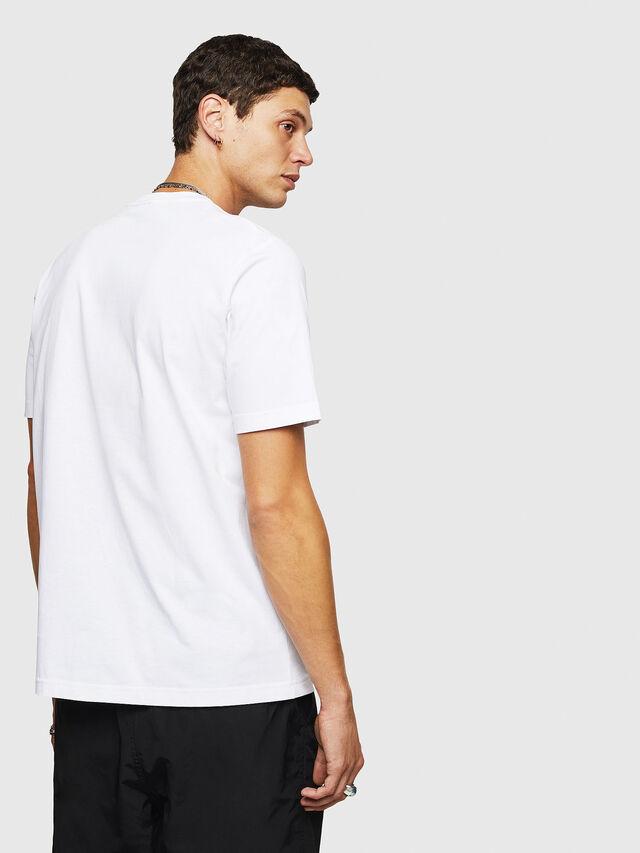 Diesel - T-JUST-B24, Bianco - T-Shirts - Image 2