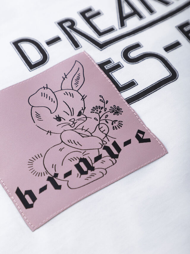 Diesel - TSOLARY, Bianco - T-shirts e Tops - Image 3