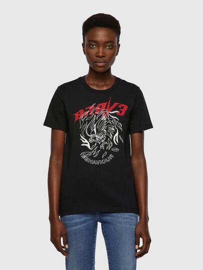 Diesel - T-SILY-B2, Nero - T-Shirts - Image 1
