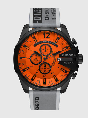 Cronografo Mega Chief in acciaio inossidabile grigio
