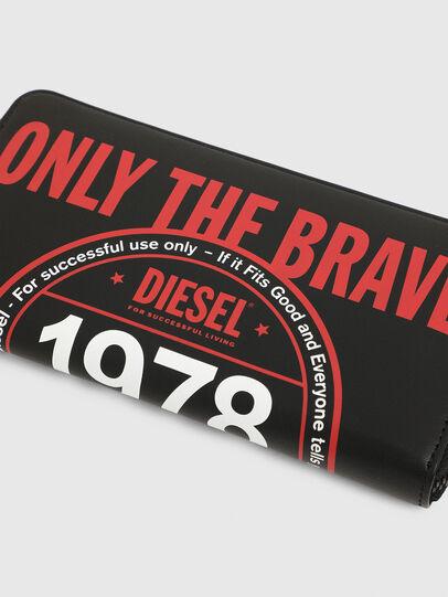 Diesel - 24 ZIP, Nero - Portafogli Con Zip - Image 3